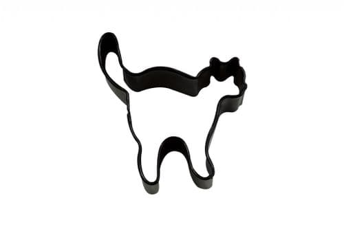 Cat Poly-Resin Coated Cookie Cutter Black