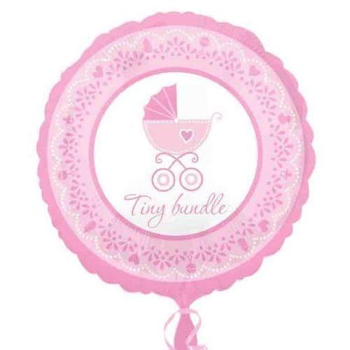 Celebrate Baby Girl  Standard Foil Balloon