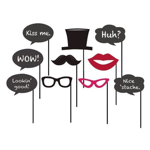 Chalkboard Photo Booth Props