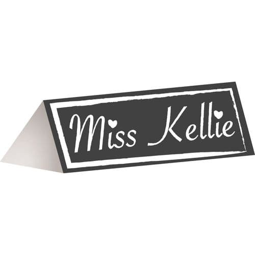 Chalkboard Place Cards 12's