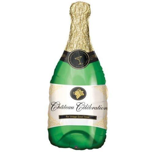 "Champagne Bottle SuperShape Foil Balloon 14"" x 36"""