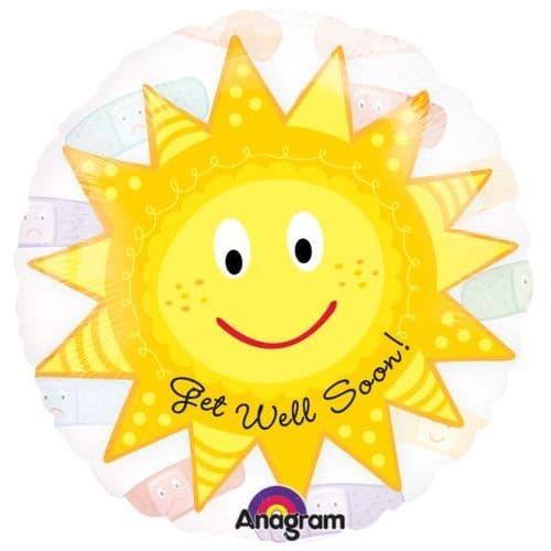 "Cheery Sun Get Well See-Thru 26"""