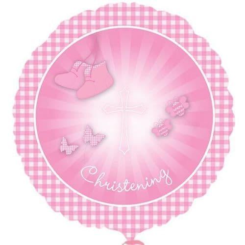 Christening Booties Pink Standard Foil Balloon