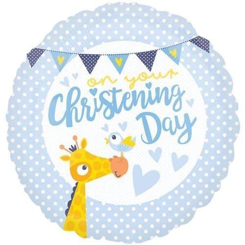 Christening Day Blue Standard Foil Balloon