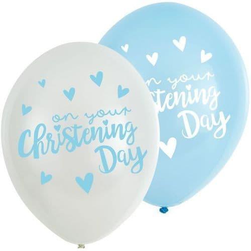 "Christening Pink Latex Balloons 11"" x 6"