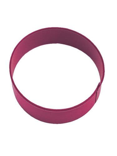 Circle Poly-Resin Coated Cookie Cutter Red