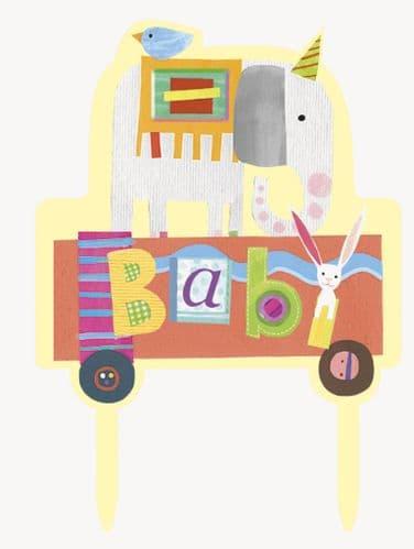 Circus Animal Baby Shower Cake Topper