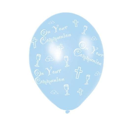 Communion Blue Latex Balloons packet of 25