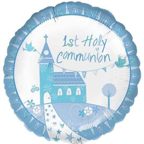 Communion Church Blue Standard Foil Balloon