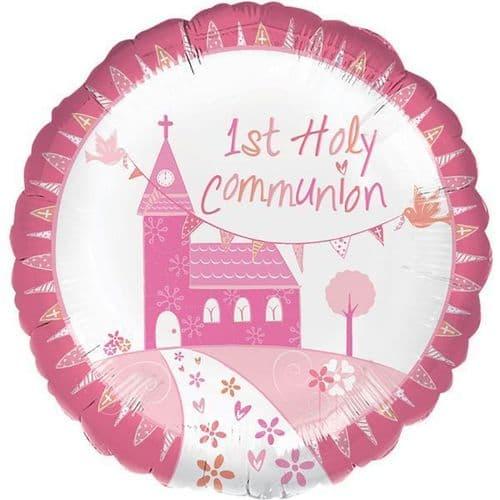 Communion Church Pink Standard Foil Balloon
