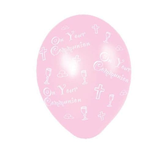 Communion Pink Latex Balloons packet of 25