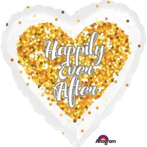 Confetti Wedding Heart Standard Foil Balloon