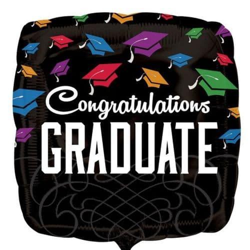 Congrats Graduate Black Foil Balloon