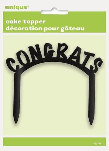 Congrats Plastic Cake Topper
