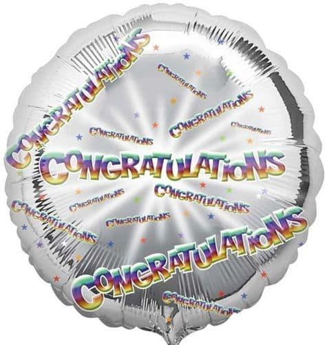 Congratulation Circle Foil Balloon