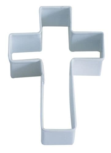 Cross Poly-Resin Coated Cookie Cutter White