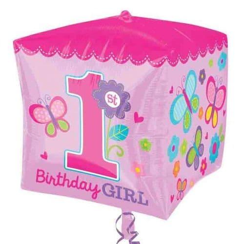 Cubez Sweet Girl 1st Birthday Foil Balloon