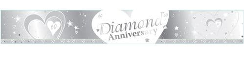 Diamond 60th Anniversary Foil Banner 9ft