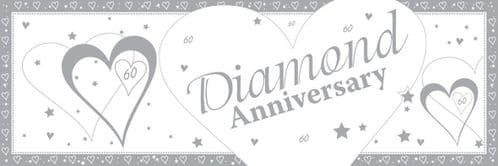Diamond 60th Anniversary Giant Banner 50 x 152cm