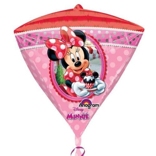 """Diamondz Minnie Mouse Foil Balloon 15"""" x 17"""""""