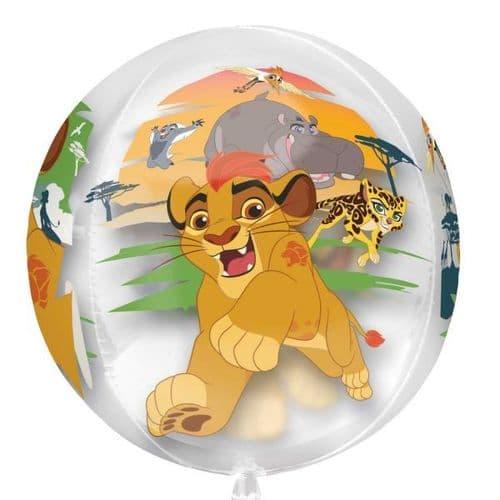 "Disney The Lion Guard Clear Orbz Foil Balloon 15"" x 16"""