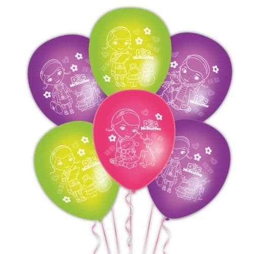 """Doc McStuffins 6 Character Story Latex Balloons Packet of 6 x 11"""""""