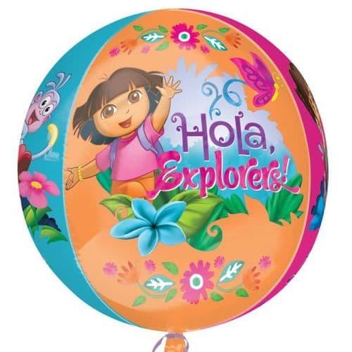 "Dora - Orbz  Foil Balloon 15"" x 16"""