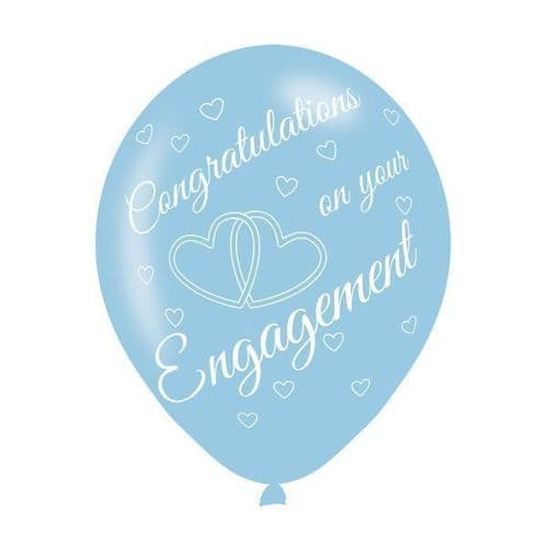 Engagement Assorted Colours Latex Balloons 6's