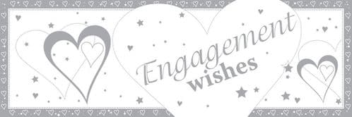 Engagement Wishes Giant Banner 50 x 152cm