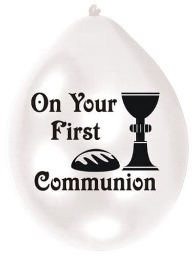 First Communion Latex Balloons packet of 10