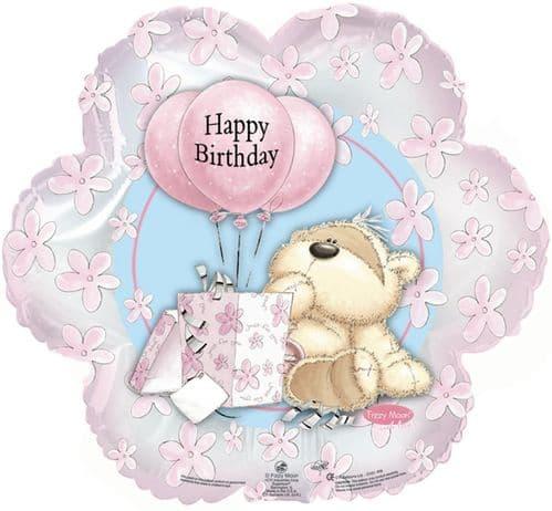 Fizzy Moon Happy Birthday Pink Balloon Foil Balloon