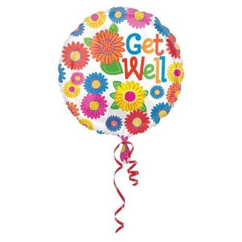 Flower Get Well Foil Balloon