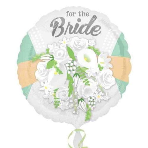 For The Bride Floral Standard Foil Balloon