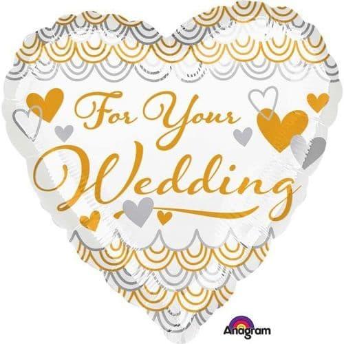 For your Wedding Heart Standard Foil Balloon