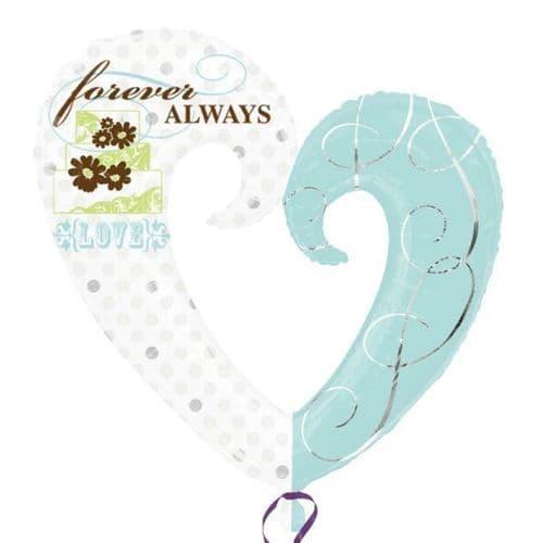 "Forever Always SuperShape Foil Balloon 30"" x 32"""