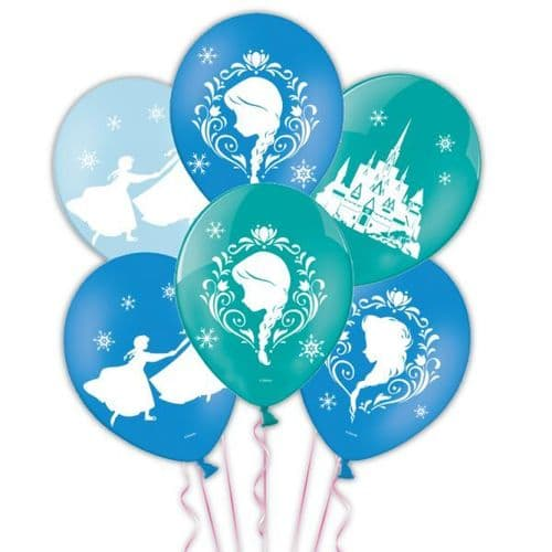 """Frozen 4 Sided Colour Printed Latex Balloons Packet of 6 x 11"""""""