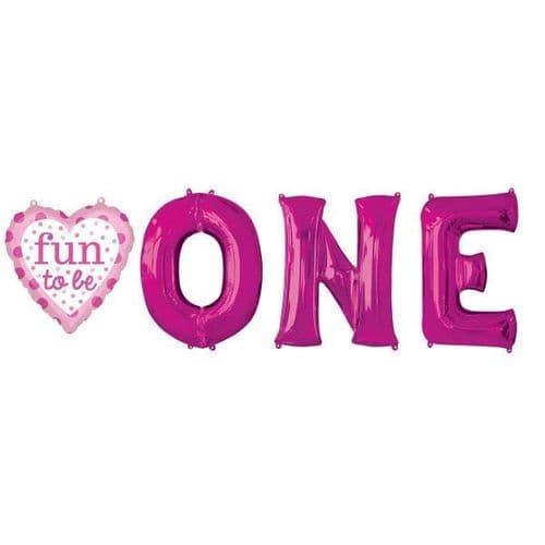 Fun To Be O-N-E Girl Balloon Bunch