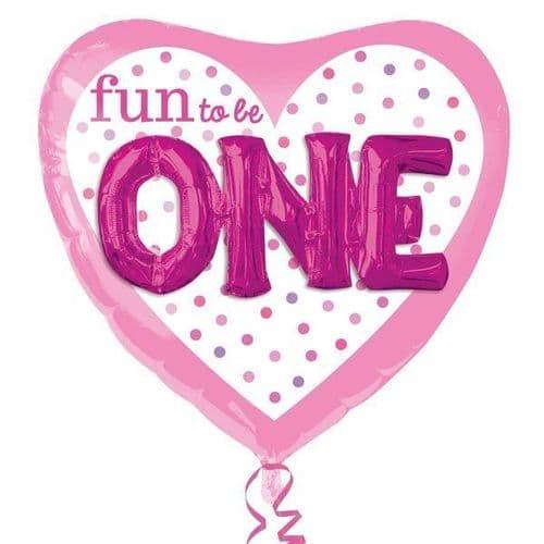 """Fun To Be O-N-E Girl Multi Balloon 36"""" x 36"""""""