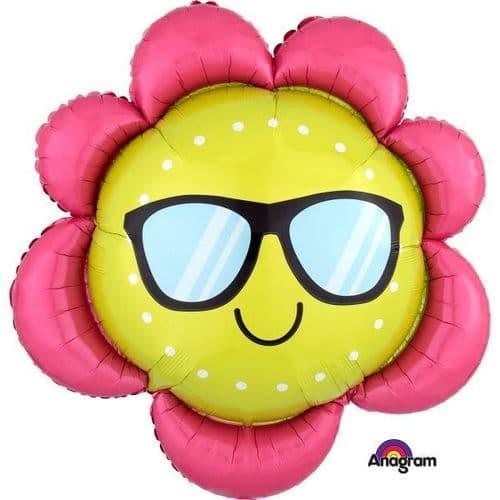 "Fun in the Sun Flower SuperShape Foil Balloon 27"" x 27"""