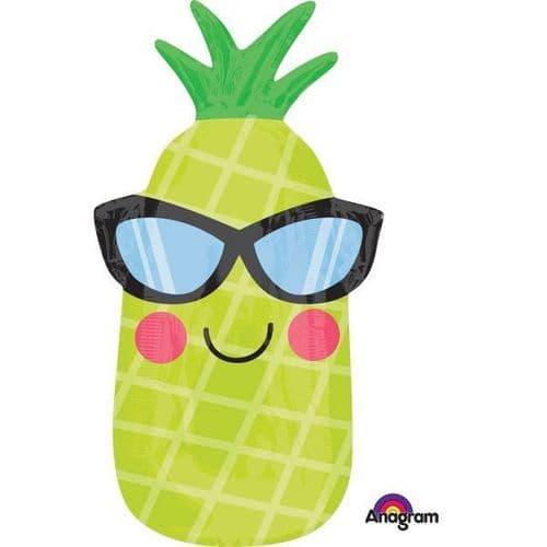 "Fun in the Sun Pineapple Junior Shape Foil Balloon 12"" x 26"""
