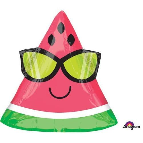 "Fun in the Sun Watermelon SuperShape Foil Balloon 18"" x 17"""