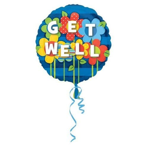 Get Well Garden Foil Balloon