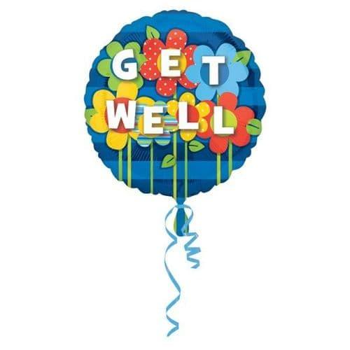 """Get Well Garden Jumbo Foil Balloon 32"""""""