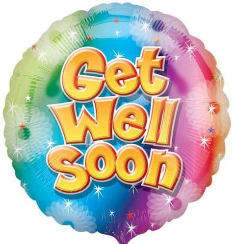 Get Well Soon Circle Foil Balloon