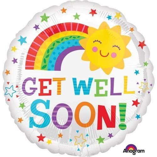 Get Well Soon Happy Sun Foil Balloon