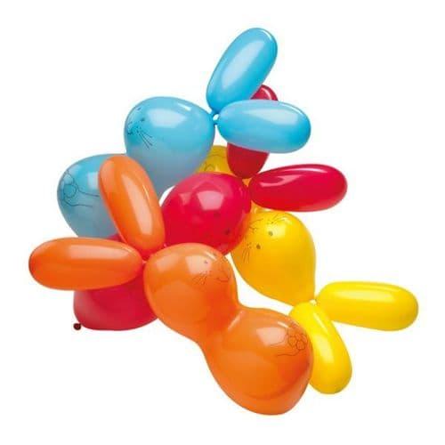 Giant Rabbit Shaped Latex Balloons 4 per pack.