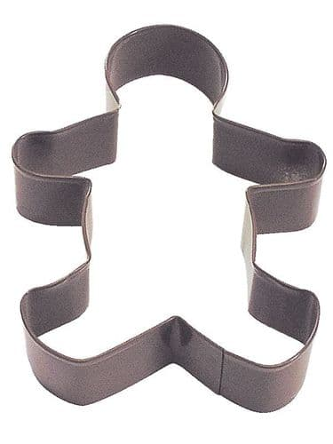 Gingerbread Boy Poly-Resin Coated Cookie Cutter Brown Large