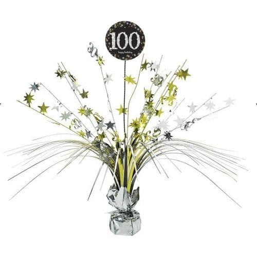 Gold Celebration 100th Birthday Centrepiece Spray 45cm