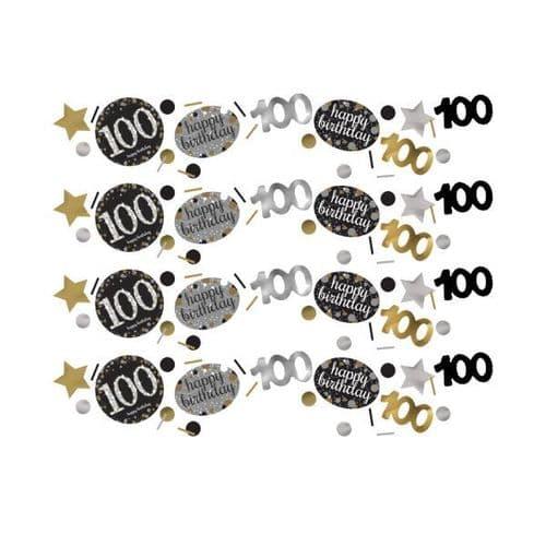 Gold Celebration 100th Birthday Confetti 34g