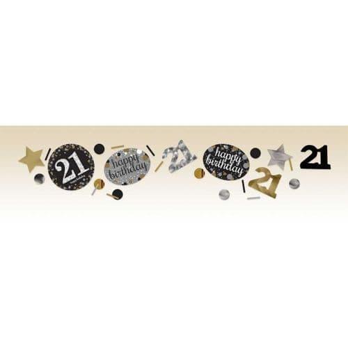 Gold Celebration 21st Confetti 34g